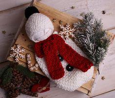 Newborn Snowman Outfit, Newborn Christmas Outfit, Crochet Snowman outfit, Baby Snowman Costume, Christmas Photo Outfit, Baby first Christmas