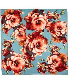gorgeous antique floral square scarf