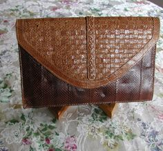 SUPER SALE Vintage 1950s-1960s Womens Alligator Purse Handbag10% Discount by BESTBUYONLINES, $36.00