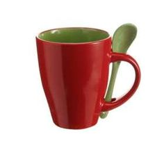 Promotional Mug and Spoon set made of ceramic and designed with two contrasting glaze colours. From £1.56.