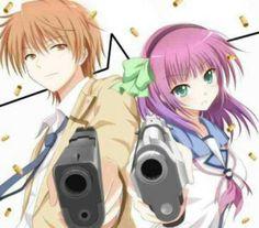 Angel Beats - Otonashi and Yurippe Anime Fairy, Sad Anime, Anime Manga, Angel Beats, Anime Couples Manga, Cute Anime Couples, Anime Girls, Vocaloid, Yuri