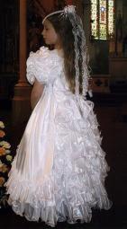 BOBBIE White Communion Dress 6 to 10 YEARS