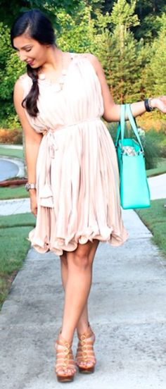 gorgeous pleated light coral dress http://rstyle.me/n/jyhukr9te