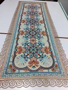 Cross Stitching, Blackwork, Needlepoint, Bohemian Rug, Embroidery, Rugs, Crochet, Crafts, Home Decor