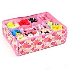 NEW 12 Cells Socks Bra Underwear Drawer Closet Storage Box Case organize Bag