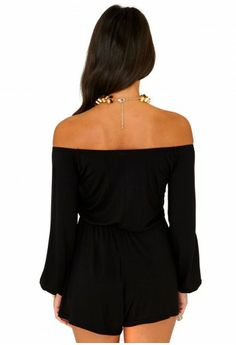 Perola Bardot Jersey Playsuit - Jumpsuits & Playsuits - Clothing - Missguided