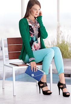 14024ba666147 Color and style with a Simply Vera Vera Wang cardigan. #emerald #Kohls  Fashion