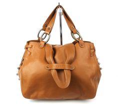 Lamarthe Paris Tan Leather Silver Studded Exception Small Tote Bag $540 #LamartheParis #TotesShoppers