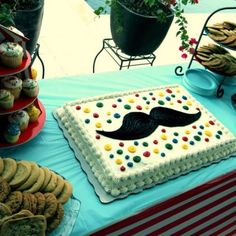 Mustache Cake and Desert Bar