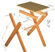 Folding table plans - forget buying that table we keep seeing around, here are plans for a perfect alternative.