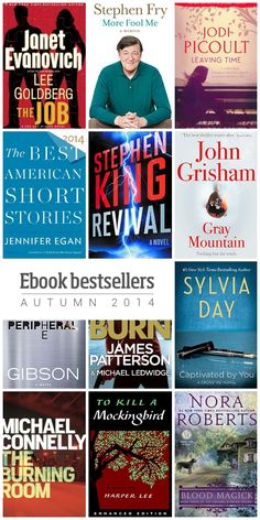 12 sure-fire ebook bestsellers – autumn 2014 E Books, Book Authors, Good Books, Love Reading, Reading Lists, Book Lists, Best Books To Read, Inspirational Books, Book Recommendations