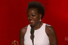 Viola Davis wins the Emmy for Outstanding Lead Actress in a Drama for her work on How to Get Away with Murder.