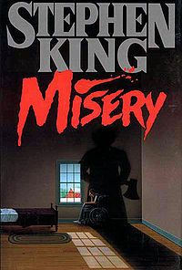 """""""Misery"""" (1987) is a psychological thriller novel by Stephen King. The novel was nominated for the World Fantasy Award for Best Novel in 1988, and was later made into a Hollywood film and an off-Broadway play of the same name."""