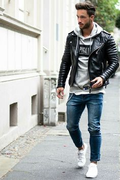 how+to+wear+a+leather+jacket+