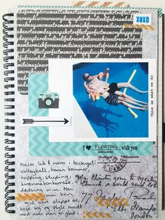 Album page for Kreativ Scrapping, using stamps:-) Event Ticket, Layouts, Album, Stamps, Card Book