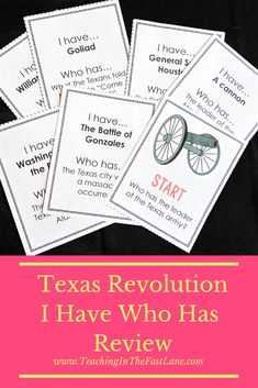 Are you looking for a way to engage your students in review about their learning on the Texas Revolution? Check out this review in the style of I Have Who Has which includes all students and is based on working together to complete the loop. #TeachingInTheFastLane #TexasRevolution Instructional Strategies, Teaching Strategies, Teaching Resources, Texas Revolution, Texas Teacher, Review Games, Texas History, Listening Skills, Student Engagement