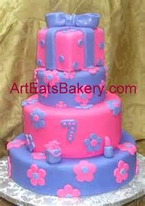 Cake With Flowers Lipstick Gift Bag And Square Present Topper