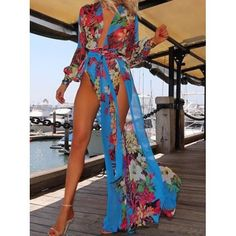 Floral Print Swimsuit CoverUp