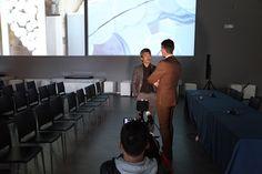 Riprese della KBC1, il più importante network televisivo della Corea del Sud all'interno del MuSA e interviste allo scultore Park Eun Sun e al Presidente Cosmave, Fabrizio Rovai, che ha descritto la struttura e le sue potenzialità per le imprese del settore lapideo. (foto Stefano De Franceschi - Cosmave)