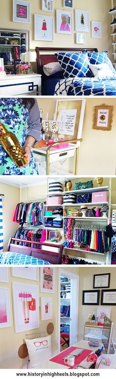 This is freaking closet goals. I shiz you not. I will be thrilled if someday, I can have an open closet like this.