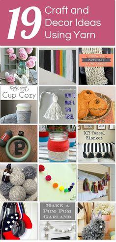 19 craft and decor ideas using yarn | Hometalk