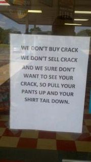 Convenience store window.  Amen!  I need to hang one of these up in my store! lol!!!
