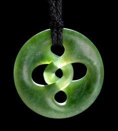 Medium: pounamu (New Zealand jade). Size: x inches. Seashell Jewelry, Jade Jewelry, Wood Carving Art, Bone Carving, Crystal Magic, Native Art, Metal Clay, Men Necklace, Rock Art