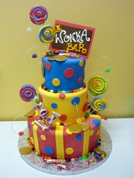 wonka cake :). Great for a sweets birthday party