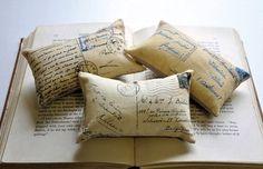 """Легкий способ повторить """"подушки - письма"""""""