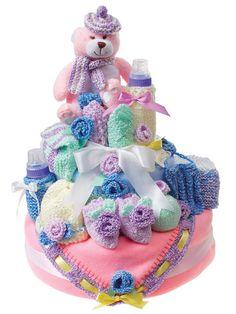 Knit nappy cake