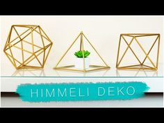 DIY geometrische Deko aus Strohhalmen