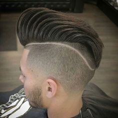 Disconnected Undercut Pompadour with Tram Line - Best Undercut Hairstyles For Men: Cool Men's Undercut Haircuts with Short, Medium and Long Hair Best Undercut Hairstyles, Cool Hairstyles For Men, Hairstyles Haircuts, Hairstyle Ideas, Guy Haircuts Long, Cool Haircuts, Hair Toupee, Hair Falling Out, Slicked Back Hair