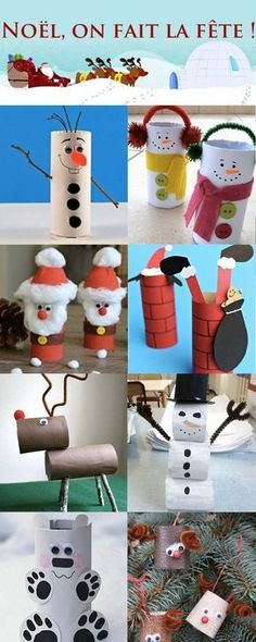 Slide Show: Christmas Bricos: To Your Toilet Paper Rolls - . - Basteln,Diashow: Weihnachtsbricos: zu Ihren Toilettenpapierrollen - Slide Show: Christmas Bricos: To Your Toilet Paper Rolls - Kids Crafts, Christmas Crafts For Kids, Christmas Activities, Kids Christmas, Holiday Crafts, Activities For Kids, Diy And Crafts, Christmas Decorations, Christmas Paper