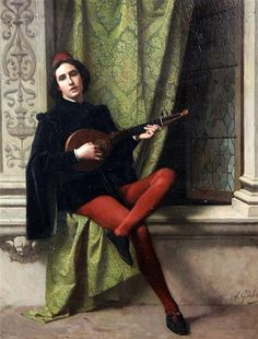 Buy online, view images and see past prices for Antonio Gisbert Gentleman playing a mandolin, 18 x Invaluable is the world's largest marketplace for art, antiques, and collectibles. Courtly Love, Chivalry, Art Music, Gentleman, Mona Lisa, Illustration, Artwork, People, Painting