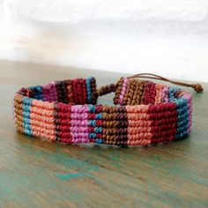 Quiero compartir lo último que he añadido a mi tienda de #etsy: Striped colorful aguayo bracelet, bohemian ethnic unique wristband, handcrafted andean design multicolored jewelry, unisex christmas gift. http://etsy.me/2ynwmPm