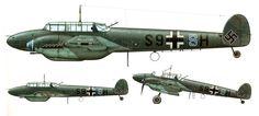 Messerschmitt Bf 110C Zerstorer 1.ErprGr210 (S9+SH) Battle of Britain France 1940