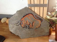 Rock painting. Acrylic paint on stone. By Nick Platel