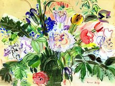 The Athenaeum - Bouquet of Flowers (Raoul Dufy - No dates listed)