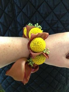 Holly Chapple Flowers - billy ball wrist corsage