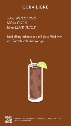 Based in Melbourne, Australia / A collection of recipes I find, steal or create, spread out in a simple layout, courtesy of the mobile app Highball. Hard Drinks, Fun Drinks, Yummy Drinks, Alcoholic Drinks, Liquor Drinks, Refreshing Drinks, Beverages, Mixed Drinks Alcohol, Alcohol Drink Recipes