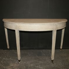 Painted Demi Lune Tables  Good pair of Early 19th C painted Demi-Lune console table 1820