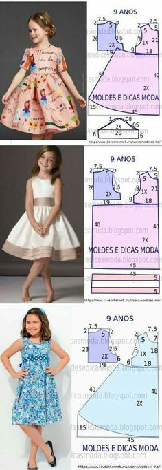 For children:separator:For children Girls Dresses Sewing, Frocks For Girls, Little Girl Dresses, Sewing Clothes, Sewing Coat, Barbie Clothes, Baby Girl Dress Patterns, Dress Sewing Patterns, Skirt Patterns