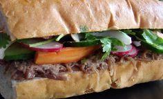 Confit Recipes, Duck Recipes, Wrap Recipes, Bacon Recipes, Sandwich Recipes, Vietnamese Sandwich, Banh Mi Sandwich, Vietnamese Recipes, Banh Mi Recipe