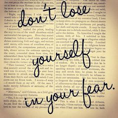 Happy Monday. Food for thought darlings don't lose yourself in your fear...you never know what could be ahead of you  XOXO WYNK*
