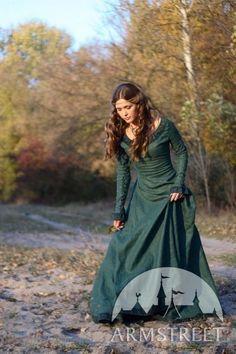 "Medieval Costume , Medieval Renaissance Linen Dress ""Autumn Princess""  #Handmade #Dress"