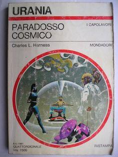 """Il romanzo """"Paradosso cosmico"""" (""""Flight Into Yesterday"""" o """"The Paradox Men"""") di Charles L. Harness è stato pubblicato per la prima volta nel 1953. In Italia è stato pubblicato da Mondadori nei nn. 552 e 900 di """"Urania"""", nel n. 132 dei """"Classici Urania"""" e nel n. 111 di """"Urania Collezione"""". Immagine di copertina di Karel Thole per un'edizione """"Urania"""". Clicca per leggere una recensione di questo romanzo!"""