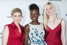 Kate Mara, Lupita Nyong'o and Elle Fanning arrive at the Marie Claire's Fresh Faces Party at Soho House in West Hollywood, California.  (April 2014)