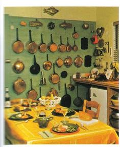 Julia Child's famous pegboard