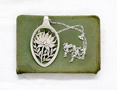 Giant protea Africa flower Eco Spoon Necklace King Protea botanical Africa Spoon PENDANT Hand Cut out South African fynbos spoon Pendant. $82.00, via Etsy.
