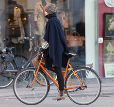 Love her Raleigh orange bike.  Copenhagen Bikehaven by Mellbin - Bike Cycle Bicycle - 2012 - 4335 by Franz-Michael S. Mellbin, via Flickr